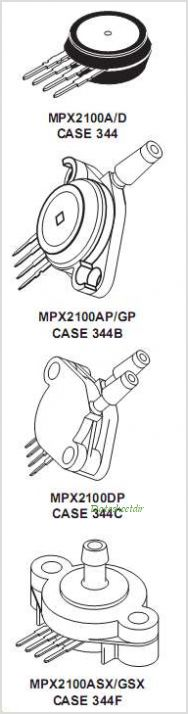 MPX2100D pinout,Pin out