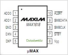 MAX1618 pinout,Pin out
