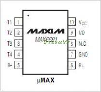 MAX6691 pinout,Pin out