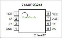 74AUP2G241 pinout,Pin out