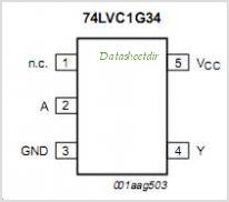 74LVC1G34 pinout,Pin out