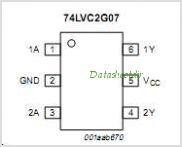 74LVC2G07 pinout,Pin out