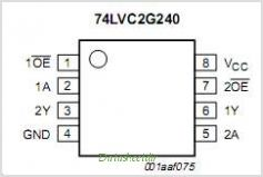 74LVC2G240 pinout,Pin out