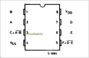 HCF40107B pinout,Pin out
