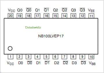 NB100LVEP17 pinout,Pin out