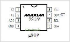DS1372 pinout,Pin out