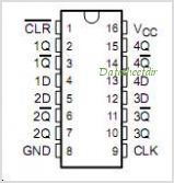 CD74AC175 pinout,Pin out