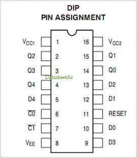 MC10H175 pinout,Pin out