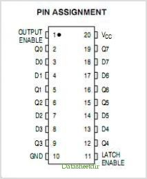 MC74HC373A pinout,Pin out