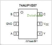 74AUP1G57GF pinout,Pin out