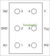 HD74LVC1G57 pinout,Pin out