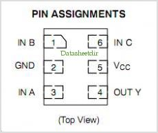 NLX1G97BMX1TCG pinout,Pin out