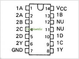 SN7451 pinout,Pin out