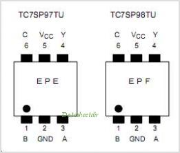 TC7SP97TU pinout,Pin out