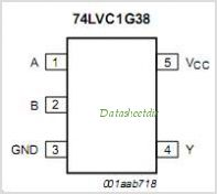 74LVC1G38 pinout,Pin out