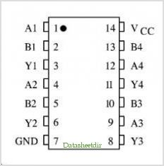 KK74AC132 pinout,Pin out