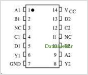 KK74HC20A pinout,Pin out