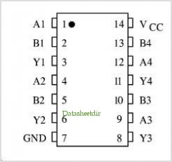 KK74HCT132AN pinout,Pin out