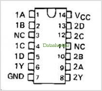 SN74LS22 pinout,Pin out