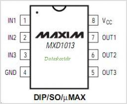 MXD1013 pinout,Pin out
