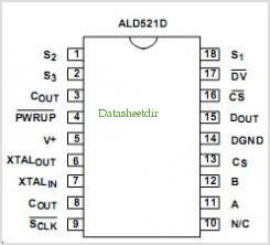 ALD521D pinout,Pin out