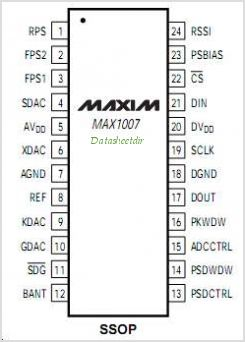 MAX1007 pinout,Pin out