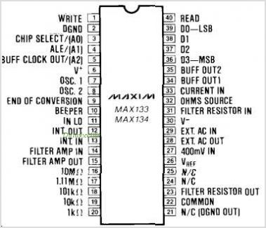 MAX133CQH-D pinout,Pin out