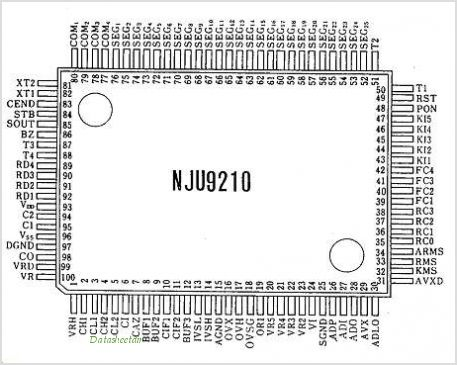 NJU9210 pinout,Pin out