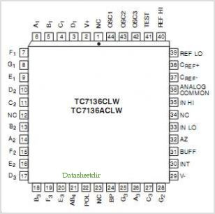 TC7136A pinout,Pin out