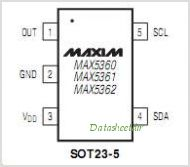 MAX5361 pinout,Pin out
