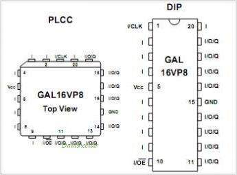 GAL16VP8 pinout,Pin out