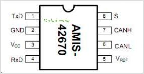 AMIS-42670 pinout,Pin out