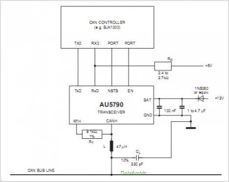 AU5790 datasheet, Pinout ,application circuits AU5790 Single
