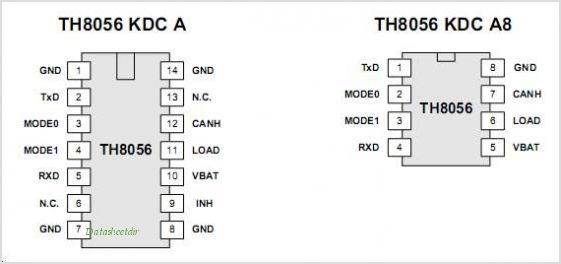 TH8056 pinout,Pin out