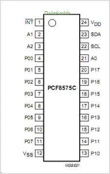 PCF8575C pinout,Pin out