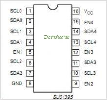 PCA9516 pinout,Pin out