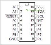 PCA9538 pinout,Pin out
