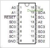 PCA9546A pinout,Pin out