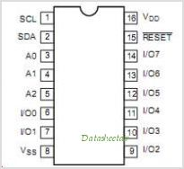 PCA9556 pinout,Pin out