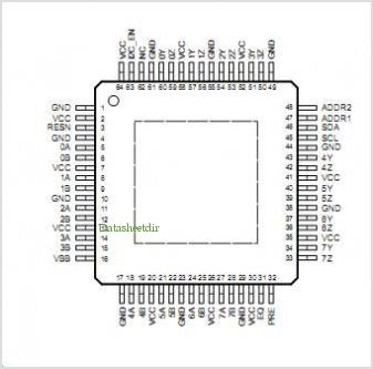 SN65LVCP418 pinout,Pin out