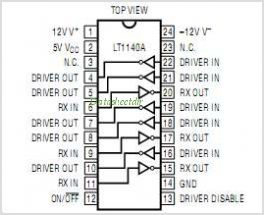 LT1140A pinout,Pin out