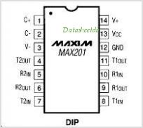 MAX201EWE-T pinout,Pin out