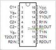 MAX232NSRE4 pinout,Pin out