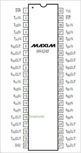 MAX245 pinout,Pin out