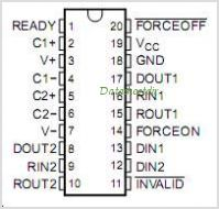 MAX3318 pinout,Pin out
