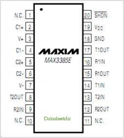 MAX3385E pinout,Pin out