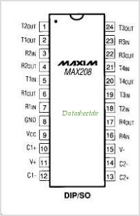 MAX208CAGT pinout,Pin out