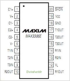 MAX3386E pinout,Pin out
