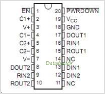 SN65C3222EPWG4 pinout,Pin out