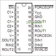 SN65C3223DW pinout,Pin out